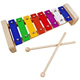 Xylophone for kids,Glockenspiel With 2Child Safe Mallets 8Notes Diatonic,Colorful Metal Bars With Educational Development Musical,Xylophone for Toddlers,Kid Toy as Holiday/Birthday DIY Id