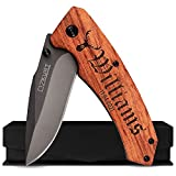 Personalized Pocket Knife for Men, Dad Gifts - 36 Icon & 20 Font Option - Hunting Knifes, Personalized Fathers Day Gift for Dad From Daughter and Son, Fishing Gifts