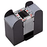 Casino Automatic Card Shuffler Battery Operated for Blackjack and Poker Playing Card Games (1-6 Deck Card Shuffler)