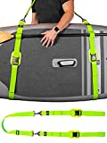 Gradient Fitness Kayak/Paddle Board/Surfboard Shoulder Strap | Hands-Free SUP Carrying Strap Boards with Padded Shoulder Sling, Paddle Carrier & Metal Accessories (Green)