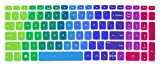 Silicone Keyboard Cover Compatible for for 15.6' HP Pavilion x360 15-br075nr, Pavilion 15-cc 15-cb Series 15-cc010nr 15-cb010nr, HP Envy x360 15m-bp 15m-bq Series, HP Envy 17.3' 17m-ae011dx (Rainbow)