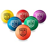 Franklin Sports Dodgeball Ball Set – Superskin-Coated Foam Balls for Playground Games – Small Dodgeballs for Gymnasium Games – Easy-Grip Foam Balls – Won't Shred or Tear for Hours of Fun (pack of 6)
