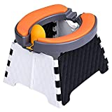 Towwi Portable Potty for Toddler Travel for Training Seat Kids Travel | Foldable Potty Travel Toilet Seat | 60 Disposable Bags & Soft Rubber Cushion