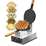 WantJoin Electric Bubble Waffle Maker, 122°F-482°F Temperature Contorl, Stainless Steel Non-Stick