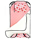 Urban Infant Tot Cot All-in-One Modern Preschool/Daycare Nap Mat with Washable Pillow and Elastic Corner Straps   52 x 22 Inches - Poppies