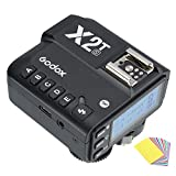 Godox X2T-S TTL 2.4G HSS 1/8000s Wireless Flash Remote Trigger Transmitter Compatible for Sony Camera,Bluetooth Support,Larger Display(Godox X1T Upgrade Version)