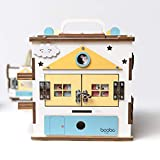 Wooden Activity Cube for 1 Year Old Toddlers - Best-in-Class Wooden Activity Centre, Montessori Baby Learning Toy 20 in 1 - Ideal 1 Year Old Girl and Boy Gifts