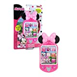 Minnie Bow-Tique Why Hello Cell Phone with Lights and Realistic Sounds for Kids, Features Minnie Mouse Phrases, by Just Play