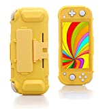 TPU Case for Nintendo Switch lite, Protective Case for Nintendo Switch lite with Game Card Storage and Kickstand - Yellow