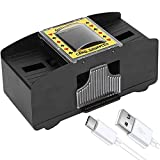 FSTgo Automatic Card Shuffler Playing Cards Poker Shuffling Machine USB/Battery Operated for for Porker Home Party Card Games Tables