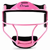 Champion Sports Steel Softball Face Mask - Classic Fielders Masks for Adults - Durable Head Guards - Premium Sports Accessories for Indoors and Outdoors - Blue