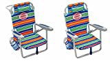 Tommy Bahama 5 Position Kids Beach Chair Set of 2