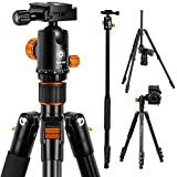 TARION Camera Tripod Monopod 61in with Panorama Ball Head Aluminium Travel Tripod for DSLR Mirrorless Cameras Support Macro Shots Counter Weight 13lb Payload Lightweight 16.9' Foldable Size