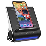 Fast Charging Wireless Charger, Bluetooth Premium Speakers, Docking Station with Built in Mic Handsfree Call, 4 in 1 Station for iPhone 12/12 Mini/12 Pro Max and Samsung Phone