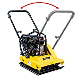 Stark 6.5HP Gas Vibration Compaction w/Reversible Handle Plate Compactor Construction 4040Lbs Force Built-in Wheel