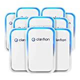 Clarifion - Negative Ion Generator with Highest Output (10 Pack) Filterless Mobile Ionizer & Travel Air Purifier, Plug in, Eliminates: Pollutants, Allergens, Germs, Smoke, Bacteria, Pet Dander & More