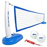 GoSports Splash Net PRO Pool Volleyball Net Includes 2 Water Volleyballs and Pump, Blue