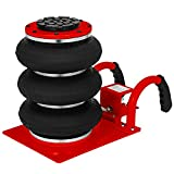 Mophorn Triple Bag Air Jack 3 Ton Pneumatic Car Jack 6600lbs Heavy Duty Air Jack Lifting Up to 16 Inch Height (Red)