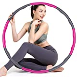 colorfarm Weighted Fitness Exercise Hoop for Adults & Beginners Weight Loss Sports Exercise Hoops Detachable Design Workout Equipment for Women Men