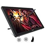 HUION 2020 Kamvas 22 Plus Drawing Monitor 21.5 inch Pen Display & Graphic Tablet QD LCD Screen Full-Laminated Tilt Function 8192 Battery-Free Stylus, Come with 20 Pen Nibs