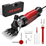 Dragro 2021 Upgraded Sheep Clippers 500W, Professional Electric Sheep Shears, Farm Livestock Grooming Kit, 6 Speed Heavy Duty Electric Clippers for Thick Coat Animals