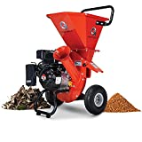 GreatCircleUSA Wood Chipper Shredder Mulcher Heavy Duty Gas Powered 3 in 1 Multi-Function 3' Inch Max Wood Diameter Capacity EPA/CARB Certified Aids in Fire Prevention - Building a Firebreak
