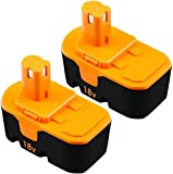 [Upgraded to 3.8Ah] 2 Pack P100 Replacement Battery Compatible with Ryobi 18V One+ Power Tools Replace for P101 ABP1803 BPP1820 1322401 1400672 130224007 1323303 Battery