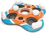 Bestway CoolerZ Rapid Rider Quad Inflatable Raft | Pool Float Includes 4 Cupholders, 2 Built-In Coolers, 2 Storage Buckets | Lounge Seatsup To 4 People | Great For Adults & Kids
