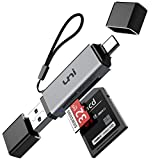 SD Card Reader, uni USB C Memory Card Reader Adapter USB 3.0, Supports SD/Micro SD/SDHC/SDXC/MMC, Compatible for MacBook Pro, MacBook Air, iPad Pro 2018, Galaxy S20, Huawei Mate 30, and More