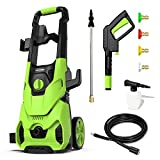 [Upgraded Version] Paxcess 3000PSI Electric Pressure Washer 2.5GPM Power Washer High Pressure Cleaner with 4 Nozzles Foam Cannon for Car, Home, Driveway, Patio