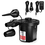 VacLife Air Pump, Electric Air Pump for Inflatable Couch & Cushion, Air Mattress Pump for Swimming Ring, Dual-Use Deflator & Inflator Portable Air Pump with 3 Nozzles, Model: 8339 (VL714)