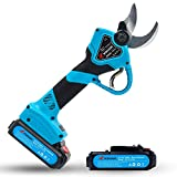 KOHAM Professional Cordless Electric Pruning Shears with 2pcs Backup Rechargeable 2Ah Lithium Battery Powered UL Compliant Tree Branch Pruner 30mm (1.2 Inch) Cutting Diameter 6-8 Working Hours