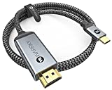 USB C to HDMI Cable 4K, WARRKY [Braided, High Speed] Thunderbolt 3 to HDMI Adapter Compatible for New iPad, MacBook Pro/Air, iMac, Galaxy S20 S10 S9 S8, Surface, Dell, HP, 6FT