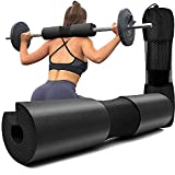 Squat Pad - Foam Barbell Pad for Squats Cushion, Lunges & Bar Padding for Hip Thrusts - Standard Olympic Weight Bar Pad - Provides Cushion to Neck and Shoulders While Training