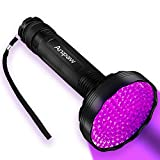 Anipaw UV BlackLight Flashlight, Superior Bright 128 LED 395 nM Ultraviolet Blacklight Detector for Urine for Dog/Cat, Dry Stains, Bed Bug, Best Blacklight Flashlight for Scorpions Hunting