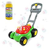 Sunny Days Entertainment Bubble-N-Go Deluxe Toy Bubble Lawn Mower with 4 oz Bubble Solution | No Batteries Required | Amazon Exclusive - Maxx Bubbles