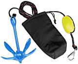 XIALUO Marine Kayak Anchor Kits 3.5 lb Folding Anchor Accessories with 30 ft Rope for Fishing Kayaks, Canoe, Jet Ski, SUP Paddle Board and Small Boats