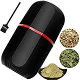 Herb Grinder Electric, Turimon Large Herbal Grinders / Mill / Crusher for Spice and Herbs With Cleaning Brush - Black - 4.2 oz Capacity