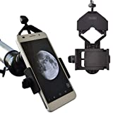 Gosky Cell Phone Adapter Mount - Compatible Binocular Monocular Spotting Scope Telescope Microscope-Fits almost all Smartphone on the Market -Record The Nature The World
