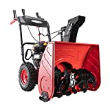 PowerSmart Snow Blower Gas Powered, 26-INCH Remove Width Gas Power Snow Thrower, 4-Stroke 212cc Gas Snow Blower, 2-Stage Electric Start Gas Snow Blower, LED Lights facilitate Night-time Snow Removal