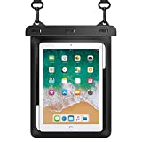 HeySplash Universal Waterproof Tablet Case, Underwater Tablet Dry Bag with Lanyard Compatible with iPad Mini 6 5/4/3/2, Samsung Galaxy Tab E, Tab S3, Fire HD 8, Fire 7, Up to 10' - Black