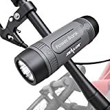 Outdoor Bluetooth Speakers, Portable Speaker for Bicycle Bike Wireless, Zealot S1 4000mAh Power Bank, Splashproof Microphone LED Light TF AUX, Full Outdoor Accessories for iOS Andoird (Gray)