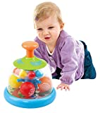 Play Popping Ball Dome Toy - Ball Popper Toys Tumble Top - Spinning Popping Make Colorful Balls Pop and Fly - Gift for 6 Month Plus Newborn Babies Infants, 1609