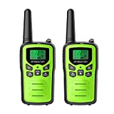 Walkie Talkies, ANSIOVON Walkie Talkies for Adults Long Range 22 Channels Walky Talky VOX Scan LCD Display Flashlight Two Way Radio for Family Biking Hiking Camping Cruise (2 Pack Green)