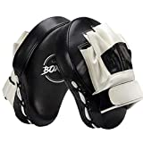Valleycomfy Boxing Curved Focus Punching Mitts- Leatherette Training Hand Pads,Ideal for Karate, Muay Thai Kick, Sparring, Dojo, Martial Arts