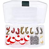 Tailored Tackle Fishing Kit 147 Pc of Gear Tackle Box with Tackle Included   Fishing Hooks & Fishing Bobbers   Starter Fishing Equipment and Accessories for Live Worms & Artificial Bait