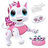 Power Your Fun Robo Pets Unicorn Toy for Girls and Boys - Remote Control Robot Toy with Interactive Hand Motion Gestures, STEM Toy Program Treats, Walking and Dancing Robot Unicorn Kids Toy (Pink)