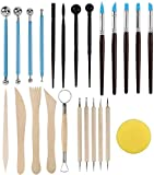 SERONLINE 24pcs Polymer Clay Tools Ball Stylus Dotting Tools, Modeling Clay Sculpting Tools Set Rock Painting Kit for Sculpture Pottery