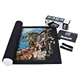 Becko Puzzle Mat Roll Up Puzzle Mats for Jigsaw Puzzles Puzzle Roll Up Mat Puzzle Keeper Puzzle Storage with Drawstring Storage Bag for Up to 1500 Pieces