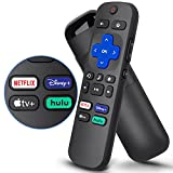 Replacement Remote for Roku TCL, Philips, JVC, RCA, Magnavox, Sanyo, LG, Haier Roku TVs, with Apple TV+, Netflix, Disney+, Hulu Buttons